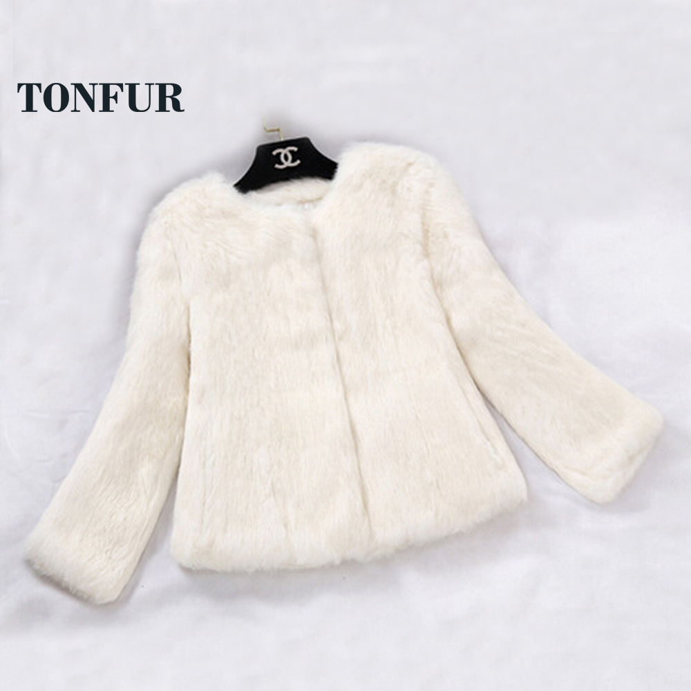 2019 New Real Full Pelt Rabbit Fur Coat 100 Pure Whole Skin Rabbit Fur Jacket Factory