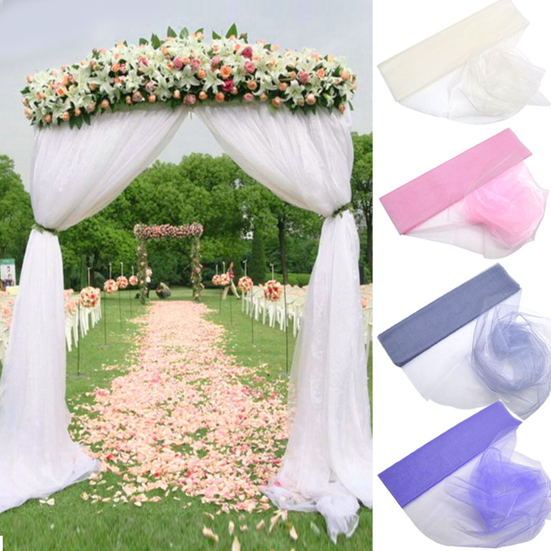 Wedding Arch Decorated With Tulle: Aliexpress.com : Buy 72cm*10m Sheer Crystal Organza Tulle
