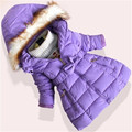 2016 Parkas Meninas Casacos de Inverno Longo Grosso Quente Para Baixo Adolescente Jaqueta de Inverno Para Crianças roupas arco do vintage para baixo casaco AA1629