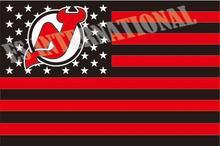 New Jersey Devils eua com estrelas e listras NHL bandeira 3 x 5 ft Banner personalizado 90 x 150 cm bandeira esporte de aço inoxidável Grommets