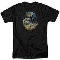 Round Neck Best Selling Male Natural Cotton Shirt Chicago Men 039 S Live T Shirt Black