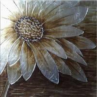 Verbazingwekkende Handgeschilderde Mooie Abstracte Bloem Olieverfschilderij Unframe Canvas Schilderij voor Woonkamer Decoratieve 75x75 cm