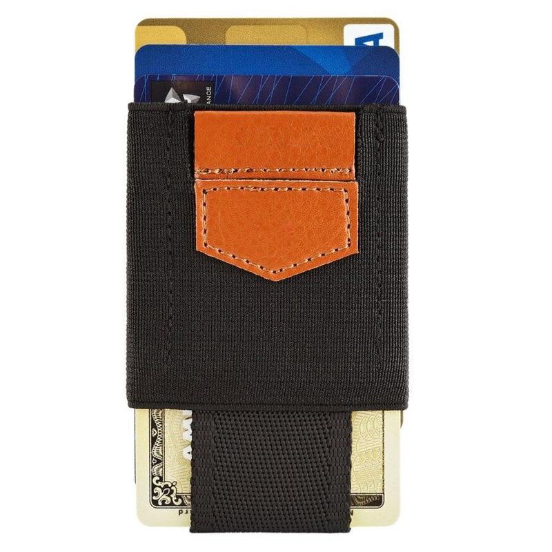 Purse Card-Holder Elastic-Belt Minimalist Men Wallet Case Credit Women Business Fixed