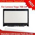 """LCDOLED 14 """"Ноутбук Lcd Сенсорный Экран Рамка Тяга Для Lenovo Yoga 700-14ISK 80QD с бесплатной доставкой"""