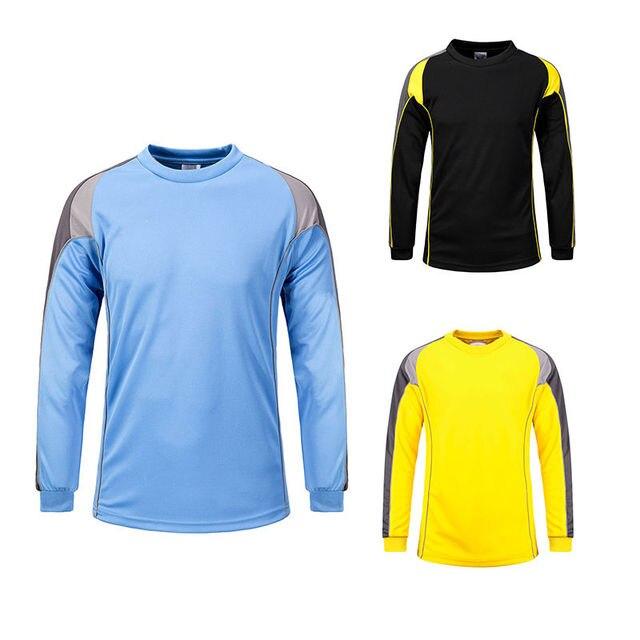 61eb974e820 Mens Football Goalkeeper Goalie Soccer Keeper Foam Padded Jersey Uniforms  Tops