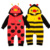 Bebé Animal Onesie Roupas de Bebe de Lunares Conejo Beatles Forma Del Oso Recién Nacido Ropa de Bebé de Algodón Con Capucha Bebé Animal Onesie