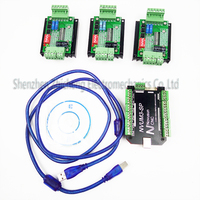 Top Grade CNC Mach3 Usb 3Axis Kit 3pcs TB6600 1 Axis Stepper Motor Driver Mach3 3