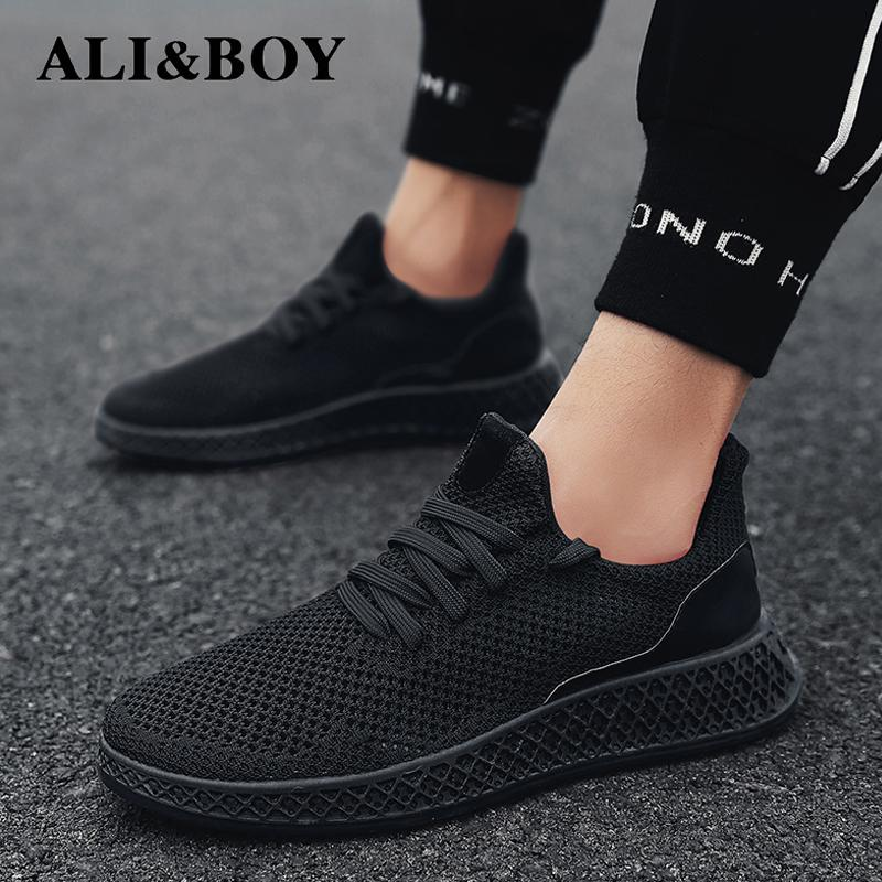 Men Sneakers Running Shoes Lightweight Sneakers Mesh Breathable Sport Shoes Jogging Walking Shoes Athletics Shoes plywood
