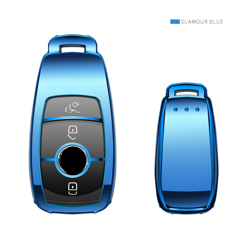 Soft TPU Car Key Cover Case For Mercedes Benz 2016 2017 2018 E Class W213 E200 E260 E300 E320 Car Key Shell Protective keychain in Key Case for Car from Automobiles Motorcycles