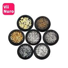 ViiNuro 12 estilos 3D uñas decoraciones para manicura Metal bricolaje aleación para arte en las uñas para Nailart diseño Super ofertas Gel de uñas Accesorios