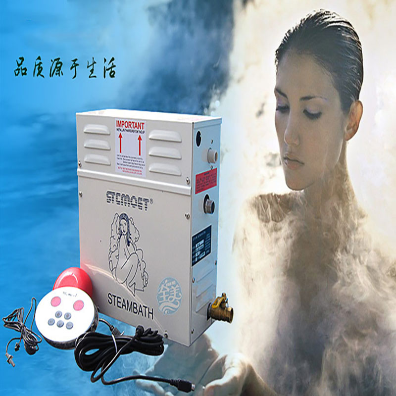 12KW Household Steam Machine 220V Steam Generator Sauna Dry Stream Furnace Wet Steam Steamer Digital Controller