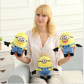 3pcs/lot Supernova Sale Minions 18CM 3D Despicable ME 2 Dolls & Stuffed Toys Plush Toy Minion Christmas Gift