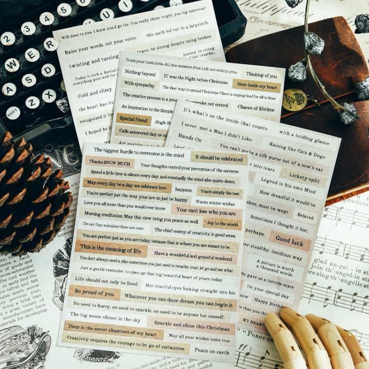 Kscraft Frases Vintage Pegatinas Para álbumes De Recortes Feliz Planificadorcreación De Tarjetasproyecto De Diario