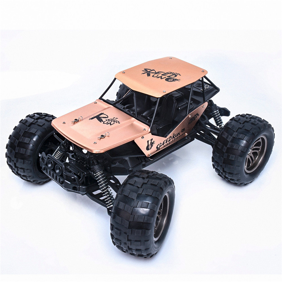 1:12 2.4G 2WD Alloy High Speed RC Monster Truck Remote Control Off Road Car RTR Toy New Dropshipping Free Shipping M28 1 28 rc car wltoys p929 2 4g 4ch off road remote control monster truck rc vehicles 30km h rtr electric 4wd brushed toys
