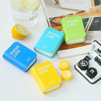 Lovers Cartoon Cute Book Travel Glasses Contact Lenses Box Contact lens Case for Eyes Care Kit Holder Container Gift