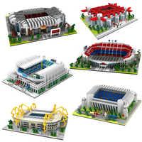 2019 Football ancien trafiquant Camp Nou Bernabeu San Sir stade Real Madrid barcelone Club diamant construction Nano blocs jouet cadeau