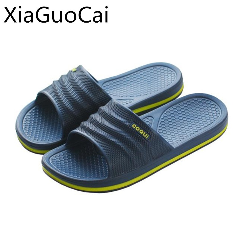 Summer Fashion Cool Men Slippers Unisex Flip Flops Pvc Breathable Couple Slippers Platform Outdoors Slippers Drop Shipping X9 35