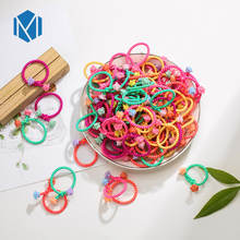 MISM 100PCS=1 Lot Girls Soft Nylon Headband Scrunchie Rubber Bands Elastic Hair Bands Ponytail Holder Kids Hair Ties Accessories(China)