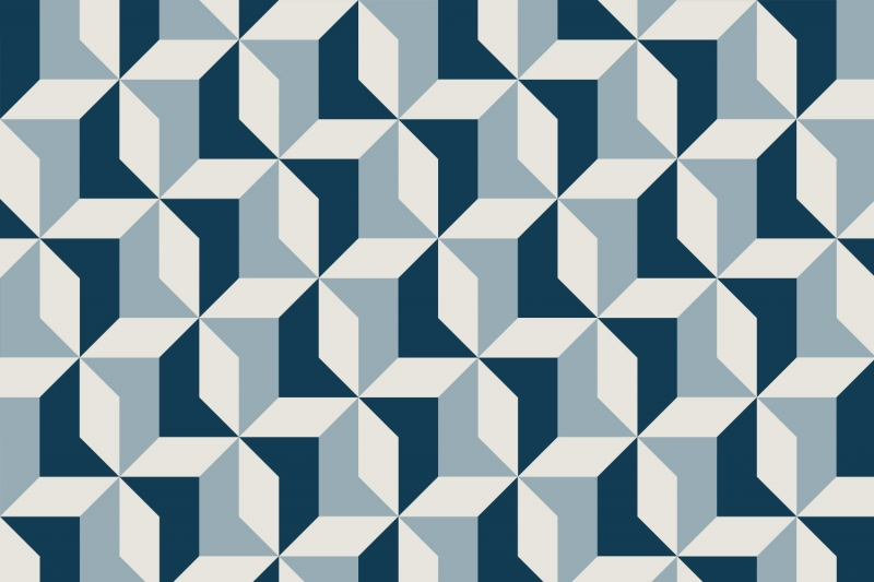 Mural Abstract Blue Geometric Wallpaper 3D Mruals In Wallpapers From Home Improvement On Aliexpress