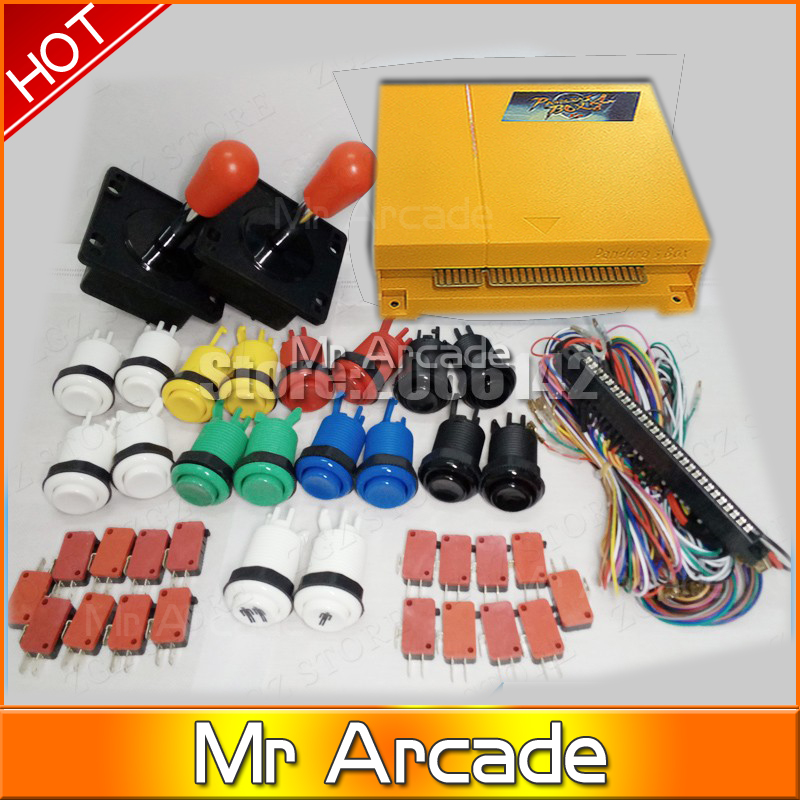 FREE SHIPPING Arcade Pandora's 4 645in1 Classic box 645 In 1 DIY Bundles With Jamma Harness Joystick Push Button Machine part sanwa button and joystick use in video game console with multi games 520 in 1