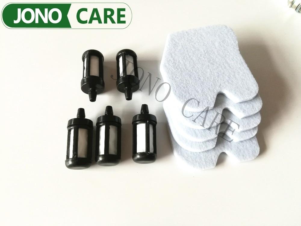 5SETS Air Filter Sponge Gas Fuel Filter For HUSQVARNA 235 236 240, 235e 236e 240e Chainsaw