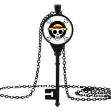 Jewelry Vintage Key Necklaces & Pendants Anime Onepiece Skull logo Glass Art Print Necklace for Men Women