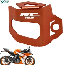 For KTM RC 125 Motorcycle Rear Brake Fluid Reservoir Guard Cover Protect rc