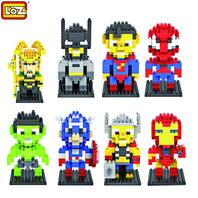 LOZ Superman Hero Series Mini DIY Figures Building Dimond Blocks Action Model Birthday Gifts Present Toys For Children Boys loz world famous classic architecture assembe mini building blocks educational model toys birthday gift for child eiffel tower