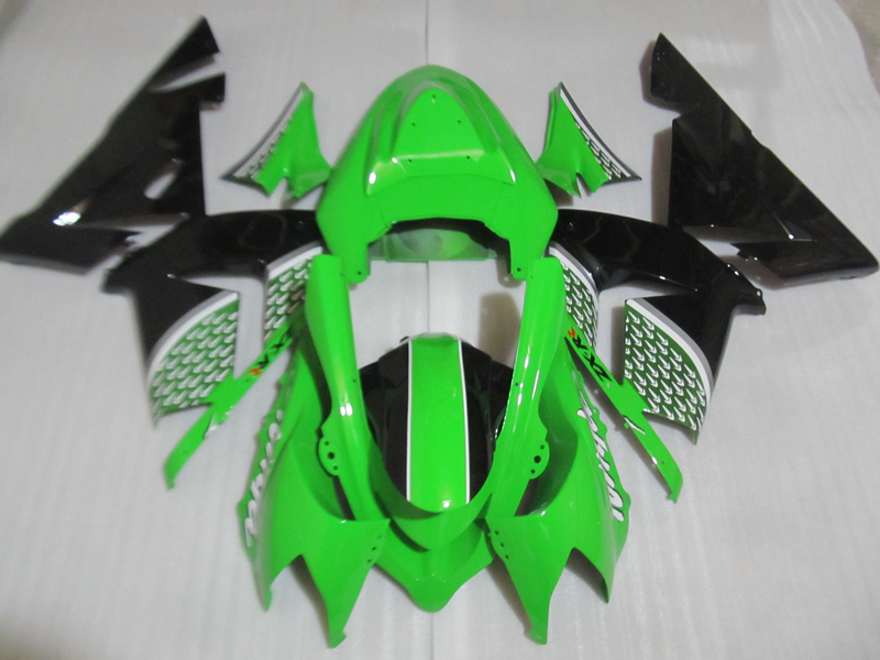Bodywork plastic fairing kit for Kawasaki Ninja ZX10R 04 05 green black fairings set ZX10R 2004 2005 OT22