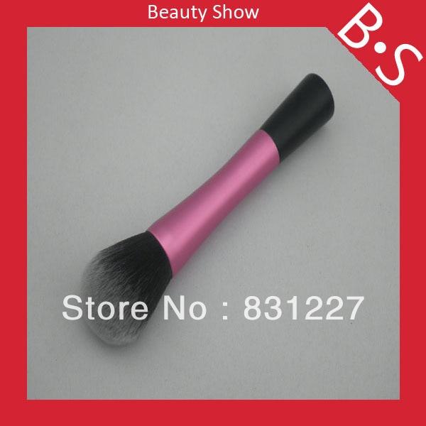 Profesionální plochý spodní růžový make-up štětec, plochý dno růžový práškový make-up / kosmetický kartáč