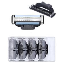 8pcs/lot High quality Razor Blades Compatible for Gillettee Mache 3 Machine Shaving Blade Men Face Care