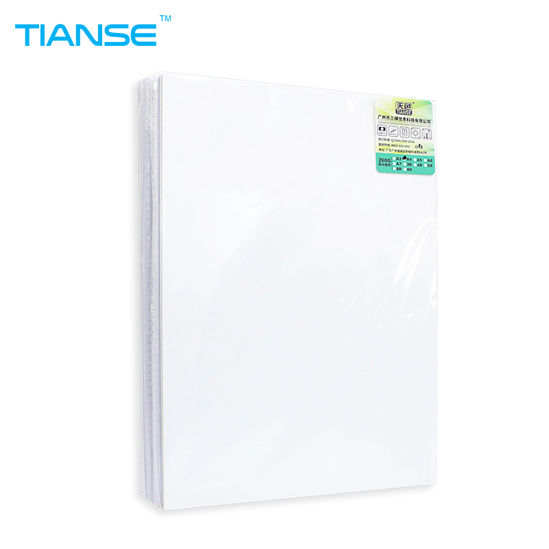 TIANSE A4 6 Inch/4R luminous 260g RC High glossy photo paper 20/100 sheets for original inkjet printer ink photographic printing hot sale inkjet printer machine 50meter 4 line 5mm 3mm solvent ink tube for infiniti pheaton sid roland mimaki mutoh