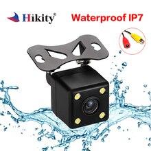 Hikity Auto Videocamera vista posteriore 4 LED Night Vision Telecamera di Retromarcia Auto di Assistenza Al Parcheggio Linea di Parcheggio Impermeabile 170 Gradi