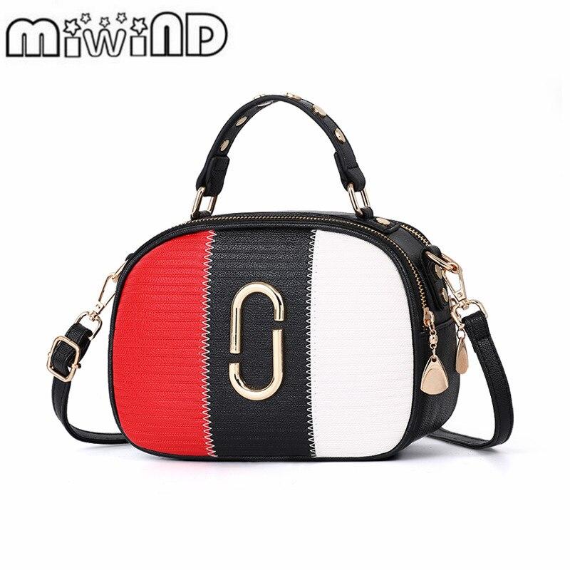 2018 MIWIND Women Crossbody Bag Fashion PU Leather Women Leather Handbag Casual Women Shoulder Bag Fashion Female High Quality