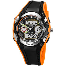 Genuine ALIKE Student Children's WristWatch 50m waterproof LED electronic watches Multi-function sports watch 9132 все цены