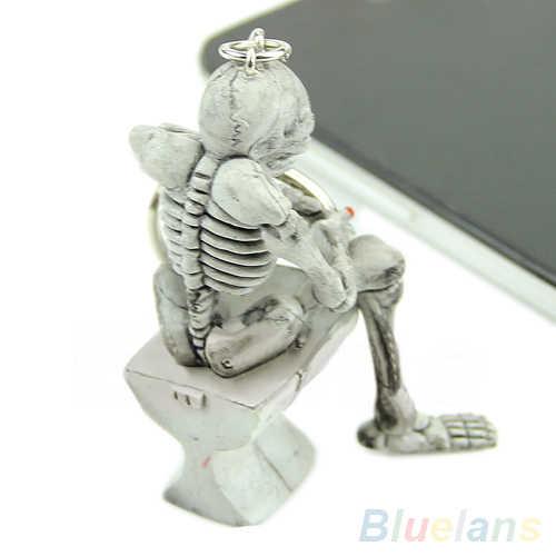 Bluelans Fashion Creative Skull Toilet Purse Bag Rubber Keychain Gift Keyring Key Chain