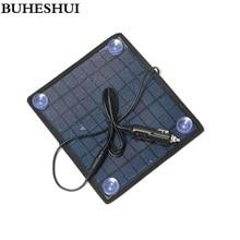 BUHESHUI 18 в 5,5 Вт поликристаллическая солнечная панель модульная система для 12 В зарядное устройство для аккумулятора автомобиля, автомобиля, лодки, перезаряжаемая мощность