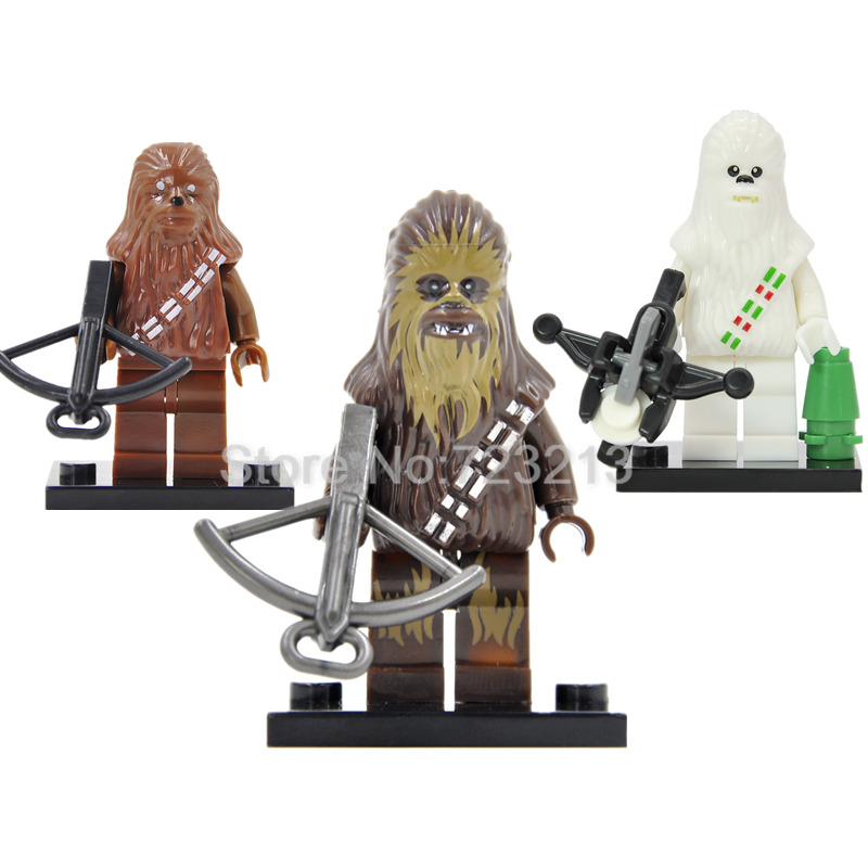 Star Wars Figure White Chewbacca Single Sale The Force Awakens Building Blocks Bricks Toys For Children XH199 single sale super heroes thor star wars the force awakens bricks building blocks education learning toys for children xh 004