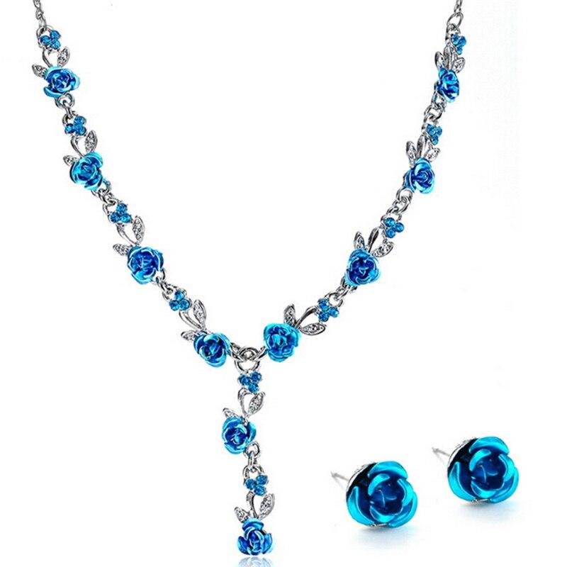 Colar Silber Vintage Türkischen Schmuck Sets Emaille Blume Anhänger Platte Prinzessin Haken Lange Halskette Ohrringe Set Nachfrage üBer Dem Angebot