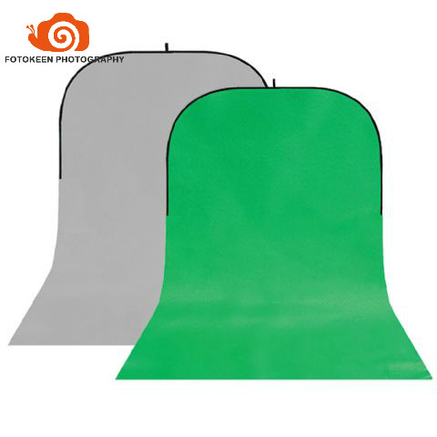 Wrinkle-Resistant Cotton Collapsible 2 in 1 Background Board Solid Grey/Green single trail twist backdrop150x400cm+Carry Bag single green board multidiag pro 2014 r2 keygen