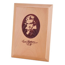 BATESMUSIC Solid wood photo frame decoration Beethoven Mozart musician statue commemorative licensing card can customized(China)