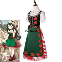 Boku No Hero Academia My Hero Academia Asui Tsuyu Vintage Apron Dress Uniform Outfit Anime Cosplay Costumes