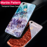 low cost 67e0c 0976d Marble Glass Phone Case For VIVO V7 Plus Y79 Y75S Fashion Tempered Glass  Coque Back Cover Cases For VIVO V7 Y75 / V9 Y85 Y83