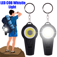 Outdoor survival whistle COB Led Lamp tent lamp Flash Light LED Camping Hook D20