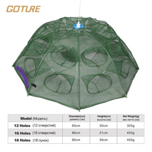 Goture Folding Fishing Net Shrimp Cage Nylon Cast Net Fishing Net Cage