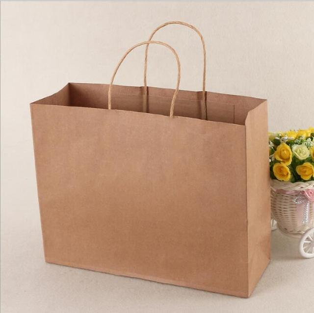 10pcs Large Gift Paper Bag With Handle Horizontal Wedding Party 42 31
