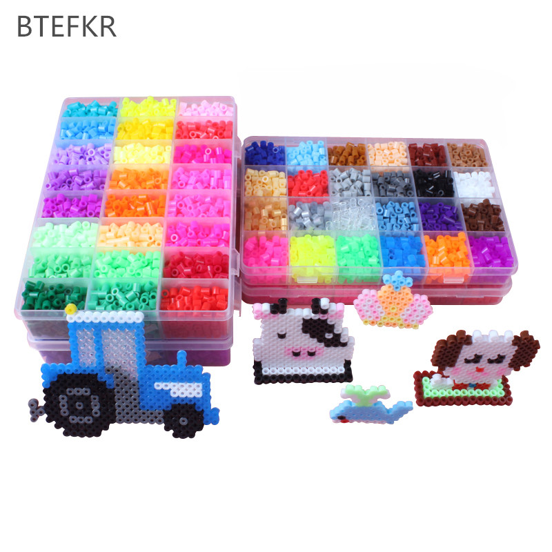 48 Colors 5mm Perler Beads Educational jigsaw toys 4600pcs/set Hama Beads for Children 3D puzzle diy Toys Fuse Beads Pegboard 1000pcs lot 5mm hama perler beads eva kids children diy handmaking fuse bead intelligence educational toys craft 9 colors