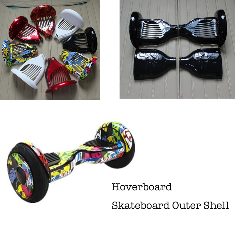 New Hoverboard 10 Inch Two Wheels Smart Self Balancing Scooter Giroskuter Electric Skateboard Outer Cover Shell Replacement Sets app controls hoverboard new upgrade two wheels hover board 6 5 inch mini safety smart balance electric scooter skateboard