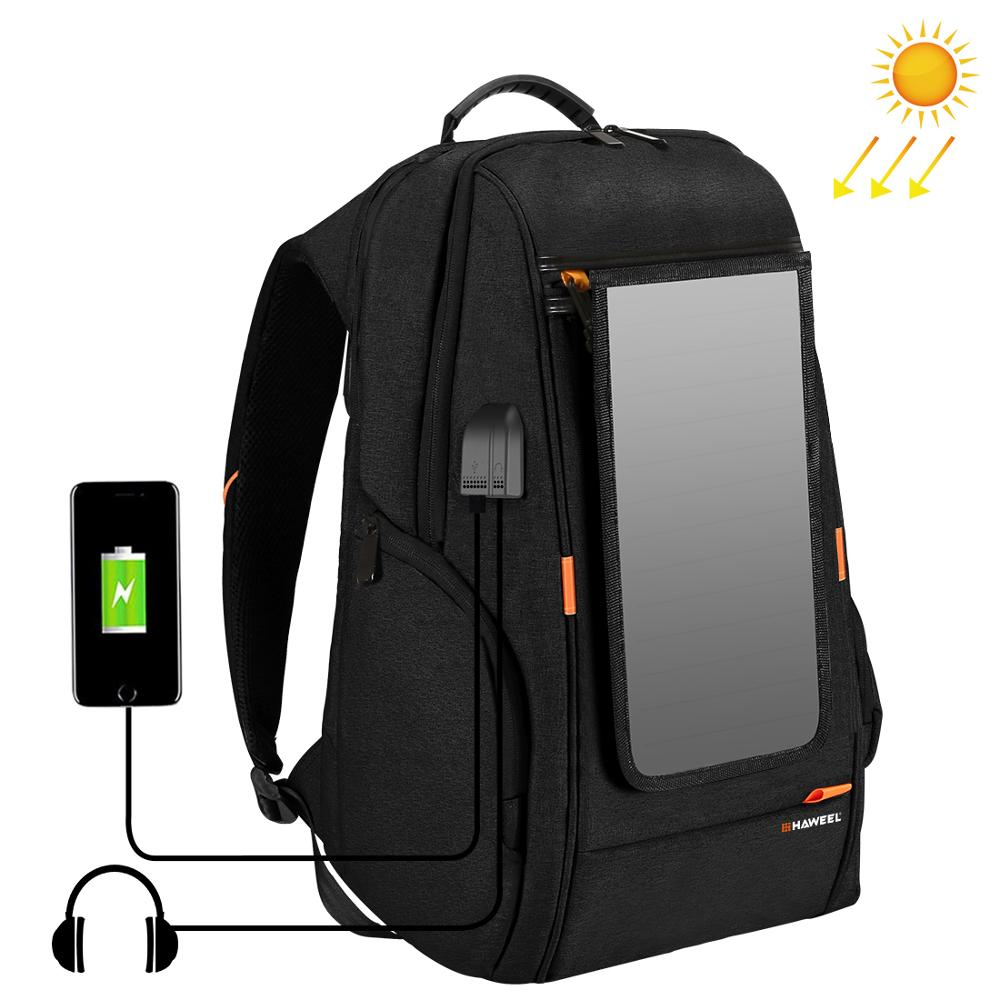 PULUZ Outdoor Multi function Solar Panel Backpack Comfortable Casual Camera Backpack Laptop Bag for 3C Dslr