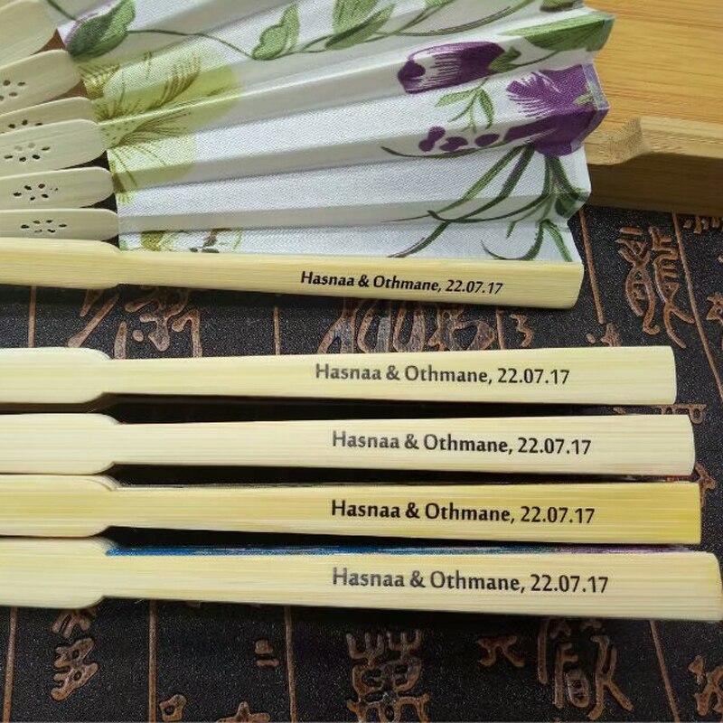 50 abanico de boda de seda personalizado, abanico de mano plegable japonés, fanáticos de la danza china, regalo de fiesta de boda, + IMPRESIÓN-in Obsequios para fiestas from Hogar y Mascotas on AliExpress - 11.11_Double 11_Singles' Day 1